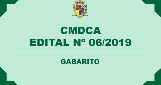 GABARITO – CMDCA
