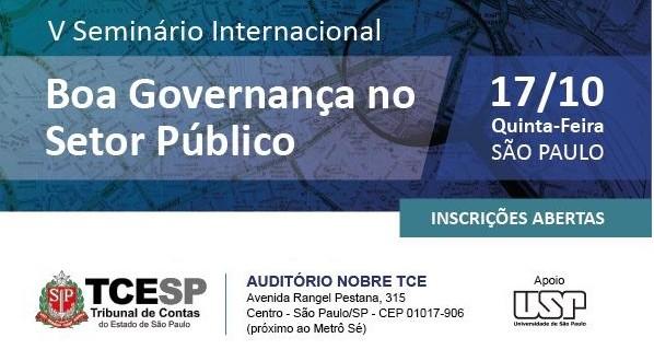 V SEMINÁRIO INTERNACIONAL – BOA GOVERNANÇA NO SETOR PÚBLICO
