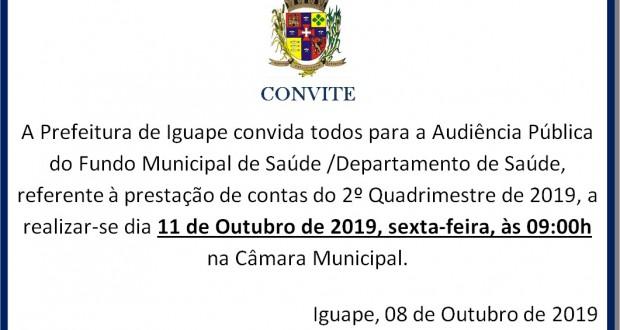 AUDIÊNCIA PÚBLICA DO FUNDO MUNICIPAL DE SAÚDE