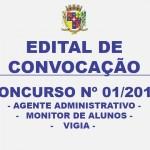 CONVOCAÇÃO – CONCURSO 01/2015