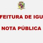 PREFEITURA DE IGUAPE – NOTA PÚBLICA