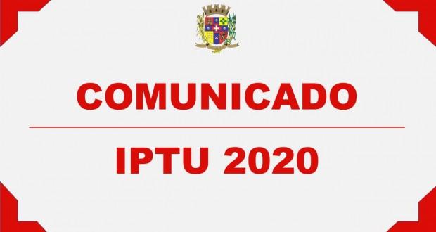 COMUNICADO – IPTU 2020