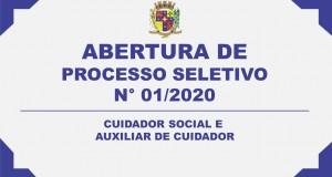 ABERTURA DE PROCESSO SELETIVO Nº 01/2020