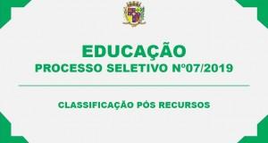 PROCESSO SELETIVO SIMPLIFICADO Nº 07/2019 – RECURSOS JULGADOS