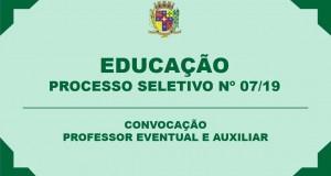 PROCESSO SELETIVO Nº 07/2019 – CONVOCAÇÃO