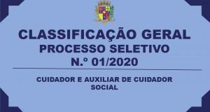CLASSIFICAÇÃO GERAL- CUIDADOR E AUXILIAR DE CUIDADOR SOCIAL
