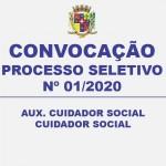 CONVOCAÇÃO –  PROCESSO SELETIVO Nº 01/2020